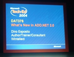 La sessione su ADO.NET 2.0