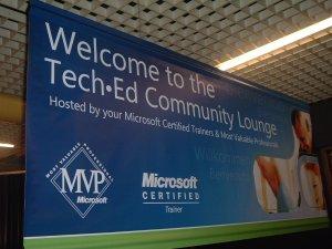 Il cartello che da il benvenuto nell'area MVP/MCT