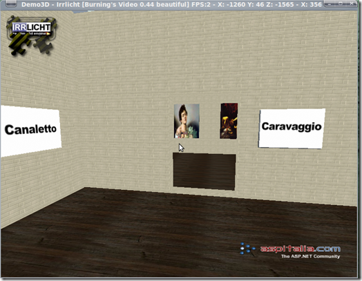 All'interno del museo virtuale in 3D