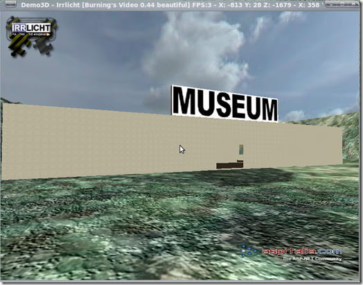 Museo virtuale all'interno dell'ambientazione 3D