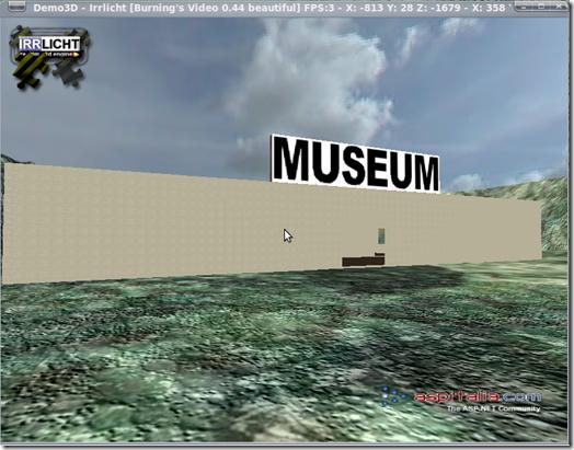 Museo virtuale all'interno dell'ambientazione 3D