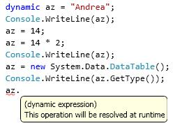 Dynamic in Visual Studio 2010 beta 1