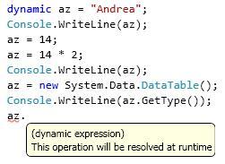Dynamic in Visual Studio 2010 beta 1