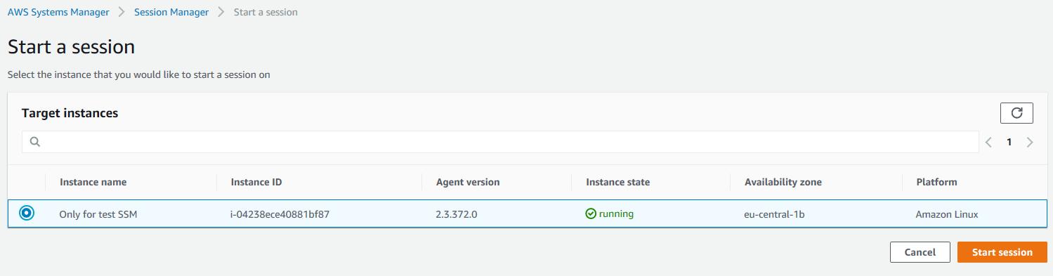 AWS SSM interface