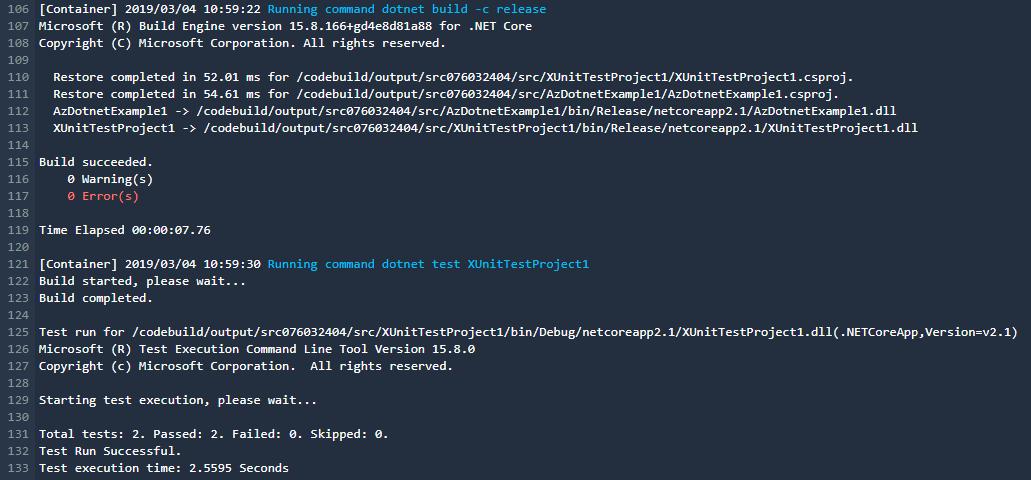 Codebuild example