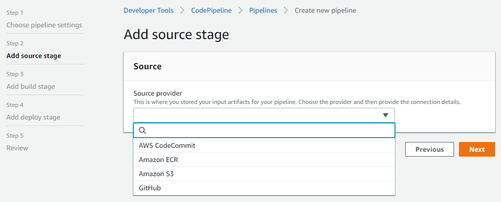 Sorce code pipeline
