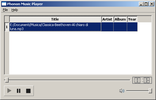 MP3 player scritto in C++ e Qt