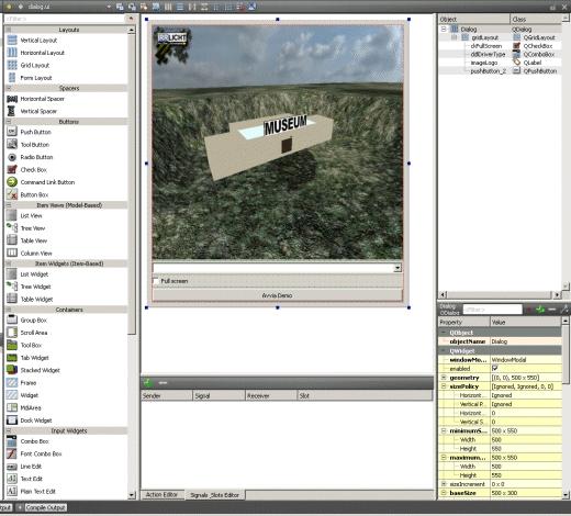 Esempio di interfaccia grafica in QtCreator